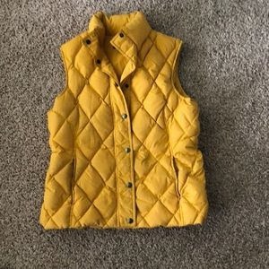 Lands End yellow down vest